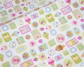 1 meter Japanese fabric  sweets nc11