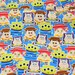 Disney Japan Licensed Disney Fabric Toy Story Print Woody  Buzz Lightyear and Many more 50 cm by 106  cm or 19.6 by 42 inches