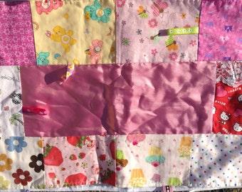 Pretty Pink Princess Soft Minky Stroller Blanket