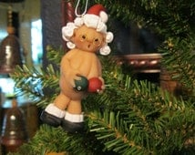 "Mrs ""Naughty"" Naked Santa Claus with balls-Unique, Funny and Jolly Santa Christmas Ornament"