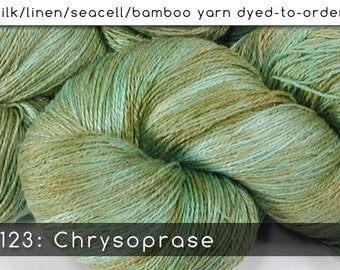 DtO 123: Chrysoprase on Silk/Linen/Seacell/Bamboo Yarn Custom Dyed-to-Order