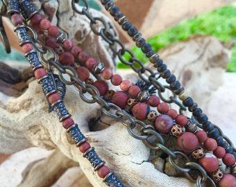 Six Strand Bronze Bracelet