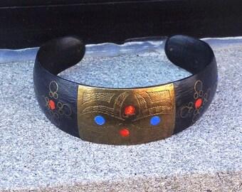 Brass Wooden Handpainted Indian Bracelet