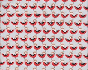 Robert Kaufman Suzy's Minis Birds in Grey - Half Yard