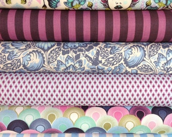 Free Spirit Fabrics Tula Pink Elizabeth Fat Quarter Set - 6 Fat Quarters