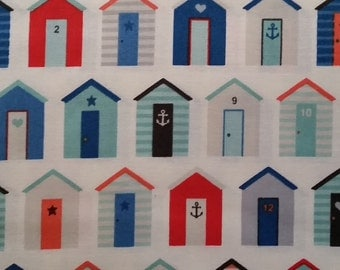 Nautical Beach Houses TP 1234-Q Cotton Fabric Andover/Makower- 1/2 yd cut