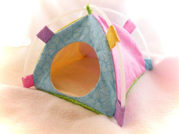 Spring Tent Sleep Sack Bed for Hedgehogs Rats Small Mammals Zhu Zhu