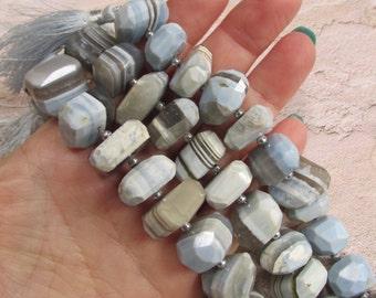 Natural Blue Caribbean Opal Beads Nugget, 14mm 15mm 16mm ,Natural Blue Gemstone