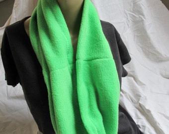 SALE - Lime Green Fleece Cowl (5491)
