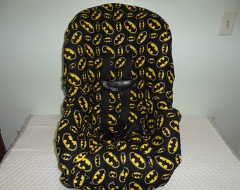 Batmam emblem print toddler car seat cover-car seat not included