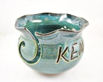 Personalized Yarn bowl / Personalized  gift / knitting bowl