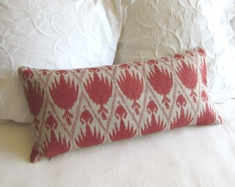decorative Pillow 11x25 includes insert casablanca geranium fabric