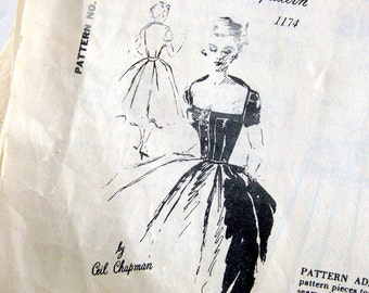 Extremely Rare Ceil Chapman Sewing Pattern - Spadea Y 1174 - Cocktail Dress / Vintage Sewing Pattern / Size 16
