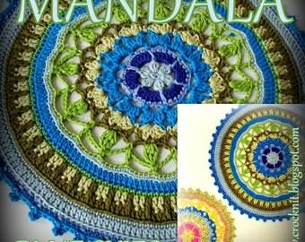 MANDALA Blue Skies USA Crochet Pattern 3 sizes