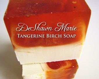 SOAP- Tangerine Birch Soap - Vegan Soap - Soap Favors - Soap Gift - Christmas Gift - Vegan Gifts - Father's Day Gift - Soap for Men -