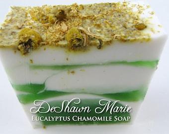SOAP- Eucalyptus Chamomile Soap - Vegan Soap - Handmade Soap - Spa Soap- Soap Gift
