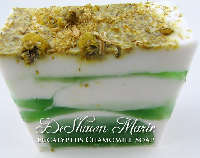SOAP- Eucalyptus Chamomile Soap - Vegan Soap - Handmade Soap - Spa Soap- Soap Gift
