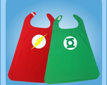 Green Lantern Flash Reversible Superhero Cape Costume