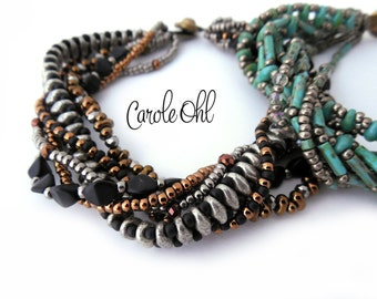 Sculpted Twist Bracelet Tutorial by Carole Ohl