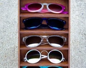 6ct Sunglasses Display Case Storage Holder Organizer Shelving Shelf 3D Glasses  Rack Wood - HANDMADE In Texas (FREE Shipping to U.S.A)