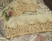 3 pieces Ornate Gold Trim, Repurpose  Dress Pieces