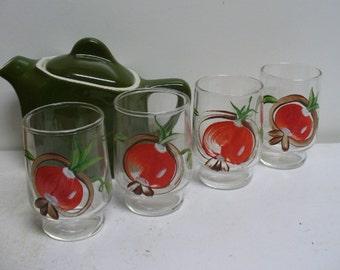 Four Vintage Little Juice Glasses