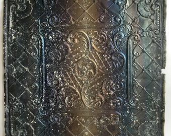 "24""x 24"" Antique 1890's Ceiling Tin Bare Metal Embossed Reclaimed 262-16"