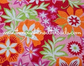 Bright Mod Terry - Vintage Apparel Fabric 60s New Old Stock Terrycloth Tropical Floral Beach (Reserved)