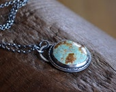 Natural Turquoise Necklace Sterling Silver Metalwork