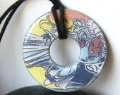 X-Men STORM Vintage Comic Book Upcycled Washer Pendant Necklace Marvel Comic Books Design 2
