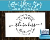 RETURN ADDRESS STAMP - Personalized Self Inking Wedding Stationery Stamper - Style 157