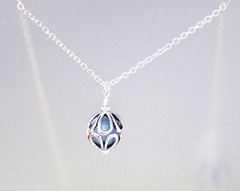 Gemstone Birthstone Necklace - Sterling Silver Filled Chain - Many Gemstones to Choose From