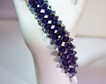 Swarovski Crystal Jewelry - Woven Bracelet - Bride, Bridesmaids, Maid of Honor Bracelet - Any Colors
