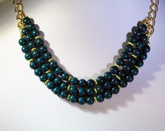 Gemstone Multi-Strand Necklace - Green Mountain Jade - Several Colors Available - Adjustable