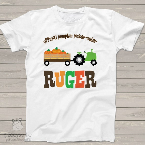 pumpkin patch shirt perfect fall tractor personalized t shirt to wear while picking pumpkins