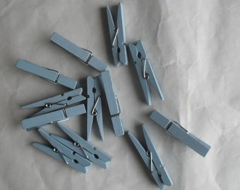 Small Blue Clothes Pins for Crafting Banners and More