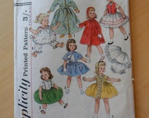 Vintage Doll Clothes Pattern - Simplicity S.163