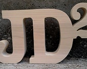 Custom Made wooden initials sign