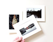 Set of Three Photographic Blank Cards - Free Shipping