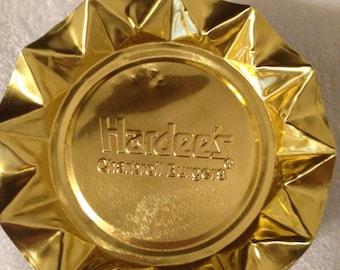 Vintage Hardees Restaurant Ashtrays Set of 5 Advertising