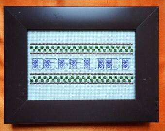 Derelict Framed Cross Stitch