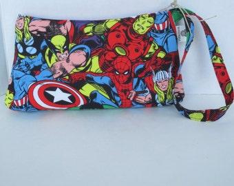 Comic Clutch - Iron Man - Captain America - Comic Wristlet
