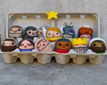 Needle Felted Wool Christmas Nativity Set - Toy - Christmas Decor - Keepsake -Made to Order