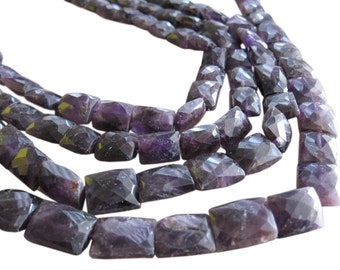 Amethyst Beads, Faceted Pillow Cut, Full Strand, February Birthstone, SKU 3298
