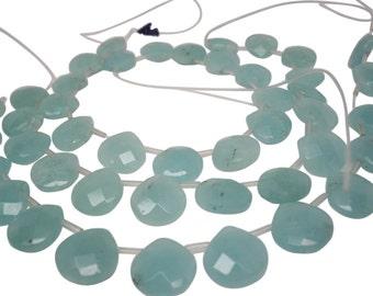 Amazonite Briolette Beads, 15mm briolettes, Aqua blue color, SKU 4994A
