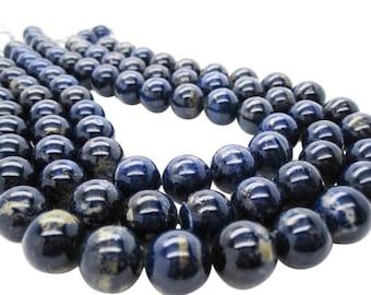 Lapis Lazuli, AAA Lapis Beads, 14mm Smooth Round, SKU 5103A