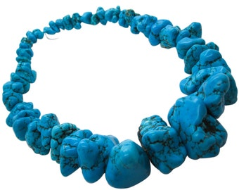 Turquoise Beads, Blue Turquoise Nuggets, Chunky Turquoise, SKU 5117A