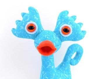 Cute Alien Toy, Alien Plush, Stuffed Alien, Funny Toy, Monster Toy, Cute Monster Plush by Adopt an Alien named Turbo