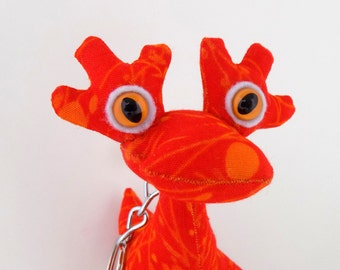 Dragon Keychain, Cute Keychain, Alien Keychain, Monster Keychain, Stocking Stuffer Toys for Boys by Adopt an Alien named Dion