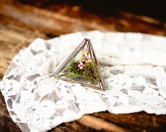Glass Triangle Treasure Box - Ring Box